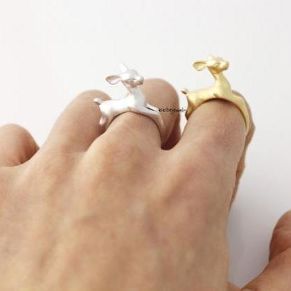 Bambee Ring, Deer ring, stag ring, ..