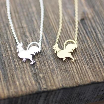 Rooster pendant, chicken Necklace i..