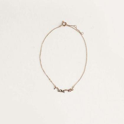 ' I LOVE YOU' Letter Bracelet / Ank..