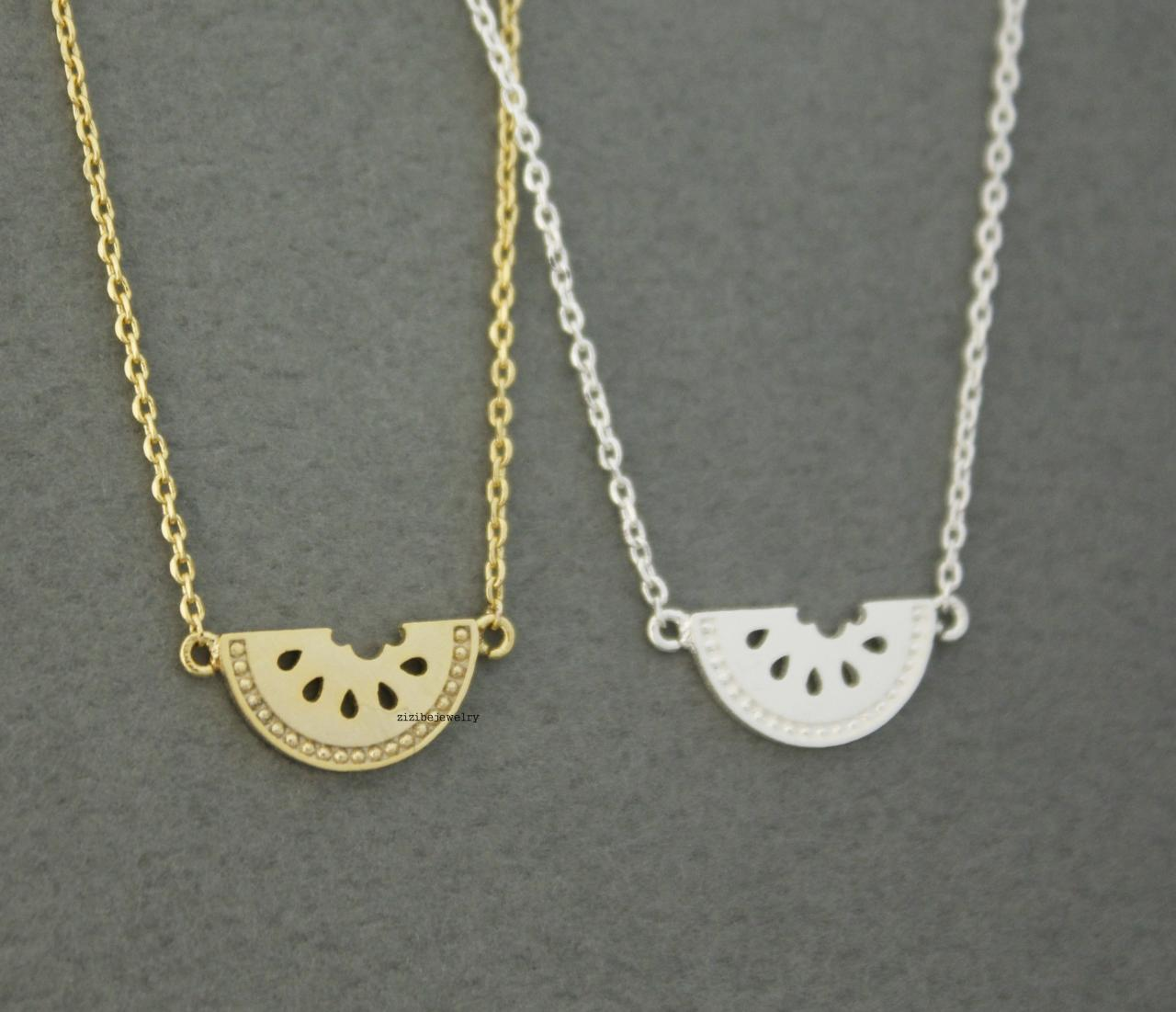 Cute Watermelon pendant necklaces in 2 colors, N0606G