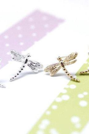 Dragonfly Post Earrings in Gold / Silver