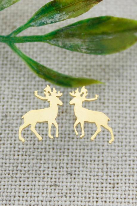 Elk Deer stud earrings in 2 colors, E0251G