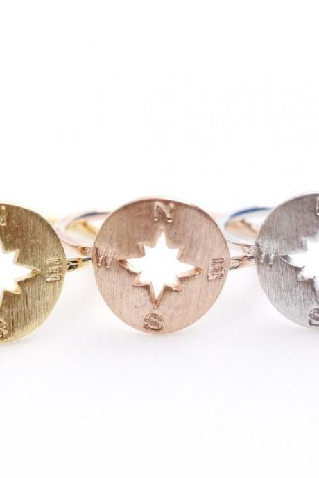 Compass Ring in 3 colors