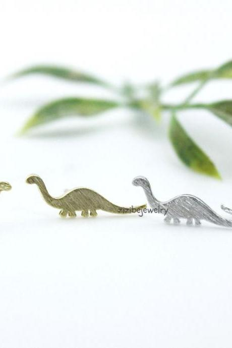 Stegosaurus, Dino Dinosaur Stud Earrings in 3 colors, E0288K