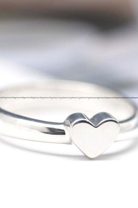 925 Sterling Silver Delicate Heart ring