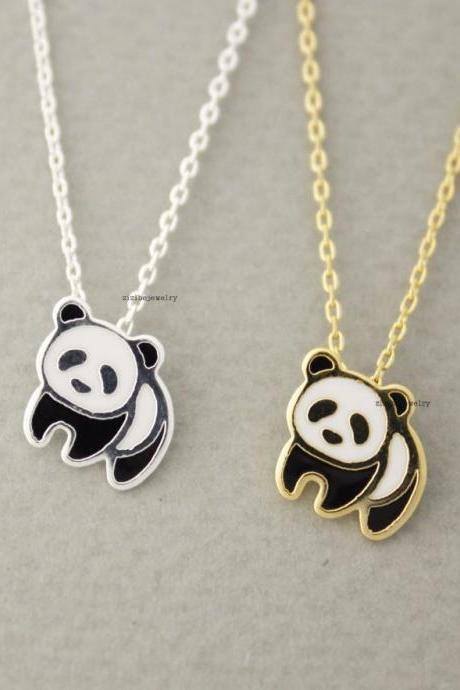 cute Panda enamel Pendant Necklace in 2 colors, N0633G