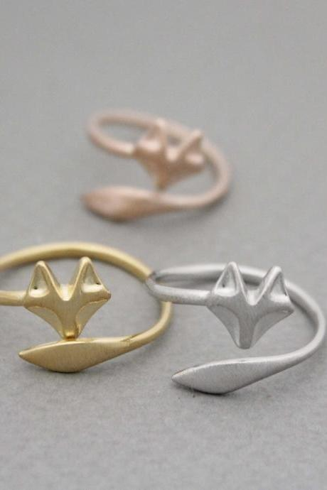 Fox Tail Adjustable Ring in 3 colors