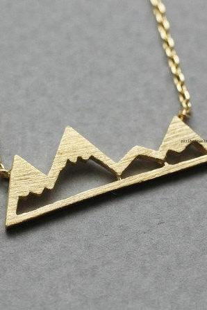 Cute Mountain pendant Necklace in 3 colors, K0789K