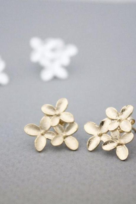 Daisy flower,Cherry Blossom stud earrings, E1019G
