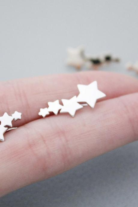 Milky way ear climber,stars ear pin, Earcuff,Ear Crawler,Stars Ear cuff Earrings in 2 colors, E1020S