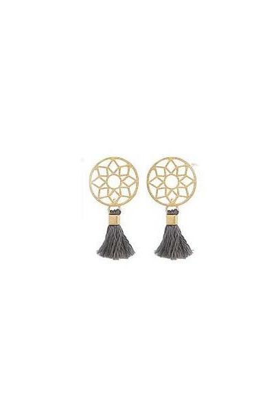Dreamcatcher Necklace Dream Catcher Boho with Tassel stud earrings in 2 colors