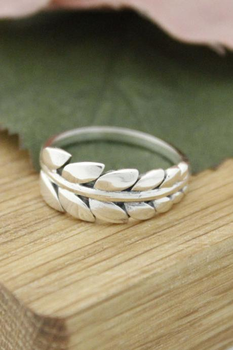 925 Sterling Silver Delicate Big Leaf statement ring ,R1167S