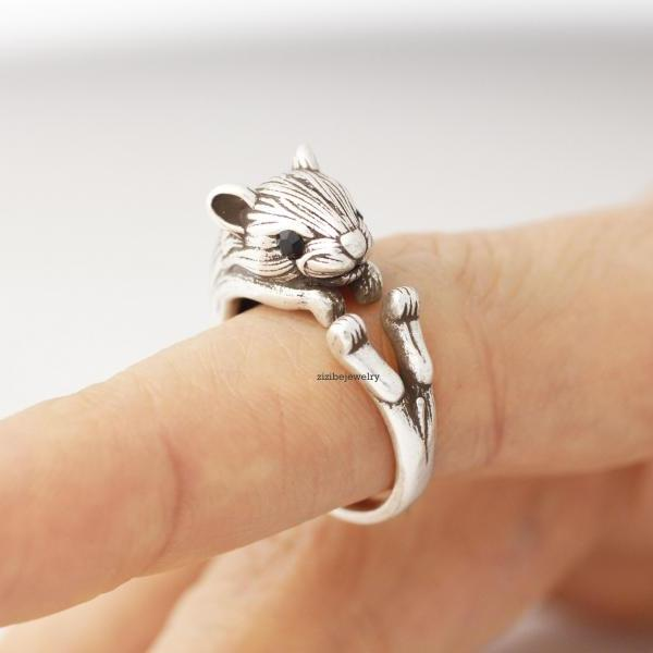 Cute Squirrel, Hamster, Mouse Wrap Ring, R0265S