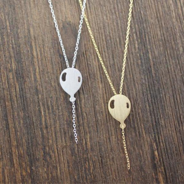 Balloon necklace in gold / silver / pink gold, N0150K