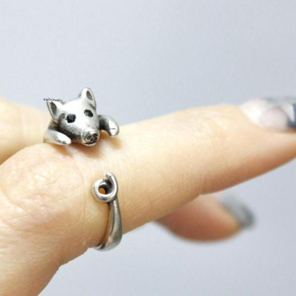 Cute Adjustable Pig Animal Ring, R0316S